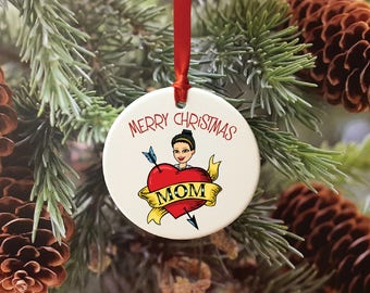 Gifts for Mom, Bitmoji, Custom Bitmoji, Bitmoji Gift, Bitmoji Ornament, Christmas Decoration, Christmas Ornament, Gifts for Her
