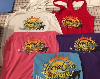 TrevaCon Ladies TANK TOPS ONLY Ladies Tank Tops for the TrevaCon Bahamas Cruise 2017