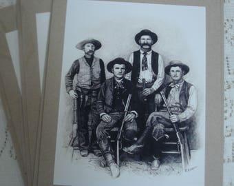 Lawmen (set of 3 blank 5 x 7 cards)