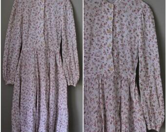1940s/1950s Prairie Farm Long Sleeve Dress