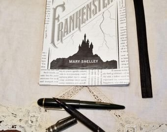 Frankenstein Journal, Book Page Journal, Bullet Journal, Mary Shelley, Blank Page Journal, Journaling, Book Nook, MarjorieMae