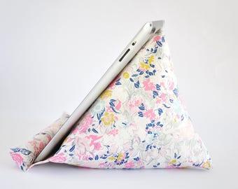 iPad Stand, iPad Holder, iPad Pillow, iPad Cushion, Tablet Stand, Tablet Holder, Tablet Pillow, Tablet Cushion - Ethereal Floral