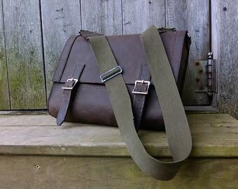 Leather Messenger Bag, Men's Messenger Bag, Leather Laptop Bag, Shoulder Bag, Leather Briefcase