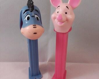 Piglet & Eeyore Pez Dispensers