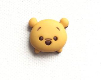 Pooh Tsum Tsum Pin, Pooh Tsum Tie Tack, Pooh Brooch, Pooh Tie Tack, Winnie the Pooh Pin, Pooh Jewelry, Disney Inspired Jewelry