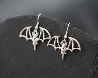 Bat Earrings, Vampire Costume Jewelry, Vampire Bats, Vampire Earrings, Halloween Jewellery, Halloween Gifts