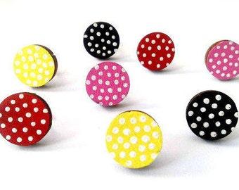 Polka Dot Earrings, Red Polka Dot Jewelry, Rockabilly Jewelry, Retro Earrings, Retro Jewelry, Retro Gift, Gift For Her, 50's Earrings