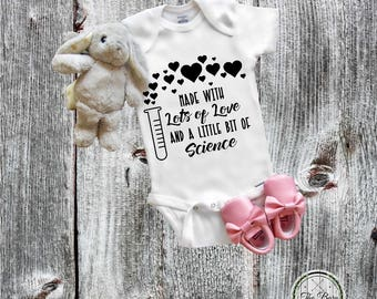 IVF onesie®, science, IVF Baby Onesie®, Miracle, New Baby, Boy, Baby Girl, Birthday Party Gift, Baby Shower Gift, Newborn Onesie®, New baby