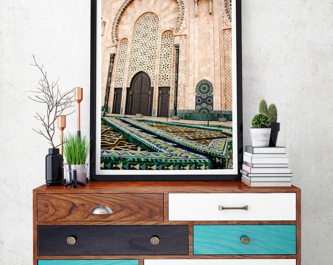 Featured listing image: Photography + Black Frame - Hassan II Mosque - Morocco