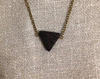 Triangle Essential Oil Defusing Necklace