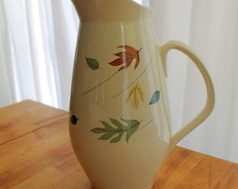 Vintage Franciscan Ware 1950's Autumn Leaves Pitcher and Bowl