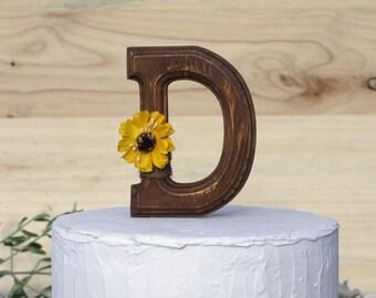 Letter D Cake Topper Etsy