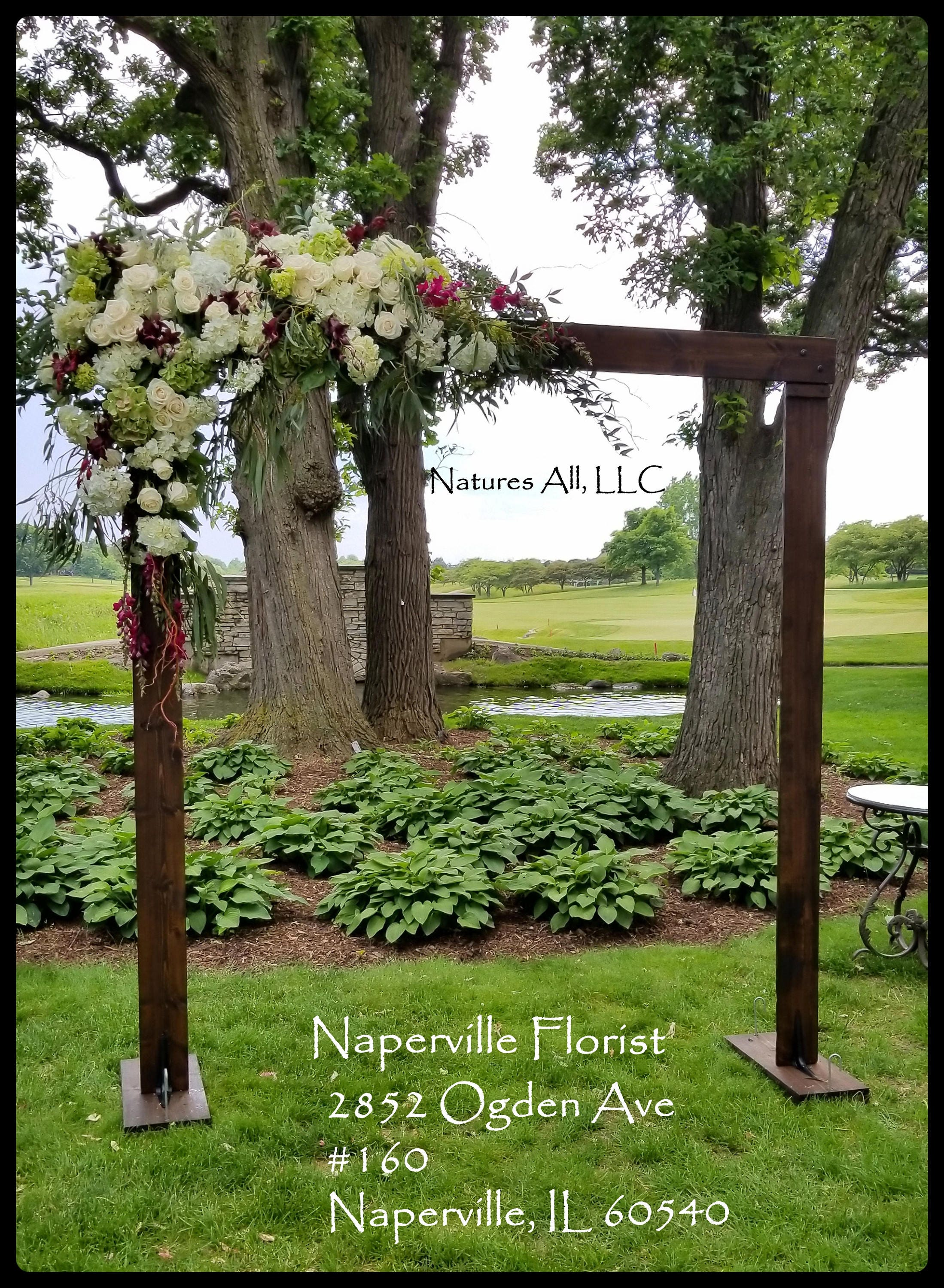how to build an arbour for a wedding