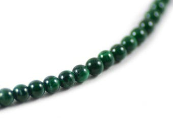 Malachite Gemstone Genuine Natural Green Stone Round Beads 4mm