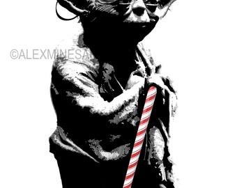 Star Wars Geeky Christmas Card Yoda Merry Christmas
