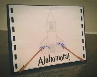 Alohomora!  Harry Potter Wedding Card - church, marriage, vow renewal, bridal shower