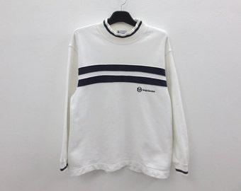 Sergio Tacchini Sweatshirt Men Size S/M Sergio Tacchini Pullover Sergio Tacchini Relaxed Sweats Made in Japan