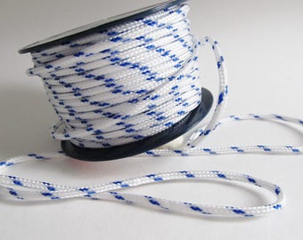 4 metres of cord colors Blue and white 3 mm