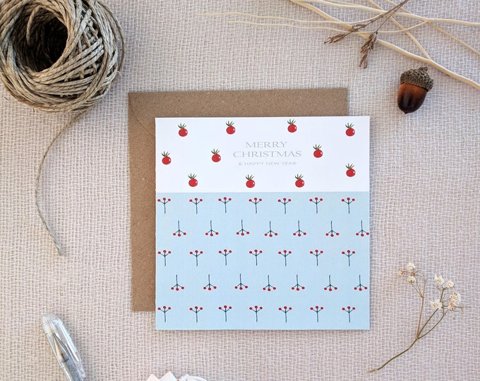 Featured listing image: Christmas Cards, Handmade Cards, Watercolor cards with envelope, Holiday Greeting Card, Holiday Card, Xmas Card Set, Boxed Christmas Cards