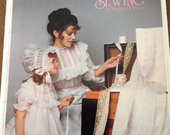 Heirloom Sewing by Margaret Pierce, vintage heirloom sewing book, heirloom sewing, how to French seam, how to blindstitch, ribbon rosettes
