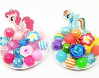 My Little Pony bracelet kits party favors - Rainbow Dash and Pinkie Pie