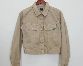 United Colour of Benetton 'Blue Family' Beige Denim Jacket Size S