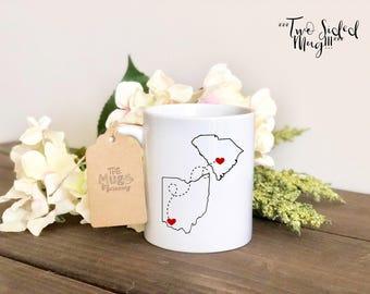 BFF State Mug, Best Friend State Mug, My Bestie Mug, BFF Mug, Sayings Mug, Custom Mug, Coffee Cup, Coffee Mug, Custom Coffee Cup, travel Mug