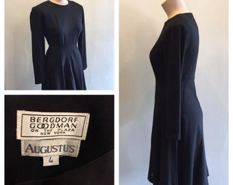 Vintage Bergdorf Goodman Black Dress Size 4