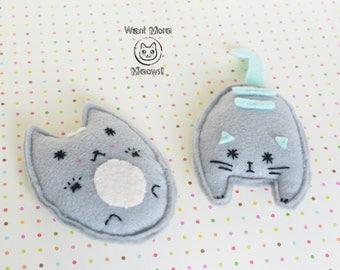 Cat toys, Catnip toy, Crinkle cat toys, Felt catnip toy, Organic catnip toy, Natural cat toy, Kawaii cat toy, Vegan cat toys, Eco friendly