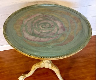 Vintage Clawfoot Round Side Table