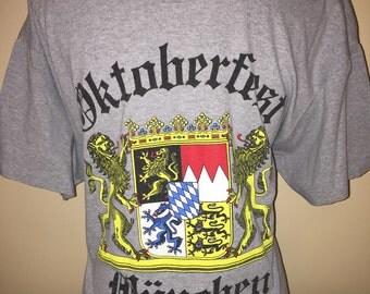 1993 Octoberfest Beer Shirt Vintage Tee 90s Munchen Oktoberfest Munich Germany Crest Rare Drinking Stein Garden Festival College Drunk XL