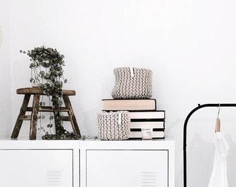 Hand Knitted Storage Basket