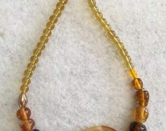Stone and Glass Necklace