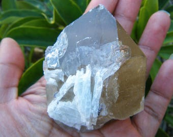 NEW TO SALE! Smoky Citrine Quartz With Albite, Citrine Crystal, Quartz Crystal, Smoky Quartz Gemstone, Natural Citrine, Mica Mineral