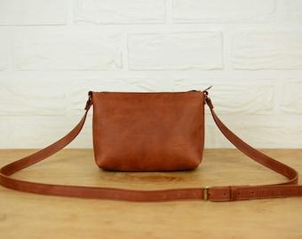 Women's crossbody summer bag / Crossbody bag, Women's leather bag, Leather crossbody bag, Leather purse, Handmade, Leather bag, Shouder bag