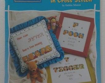 Winnie The Pooh Alphabet in Cross Stitch Booklet by Debbie Minton Designer Stitches