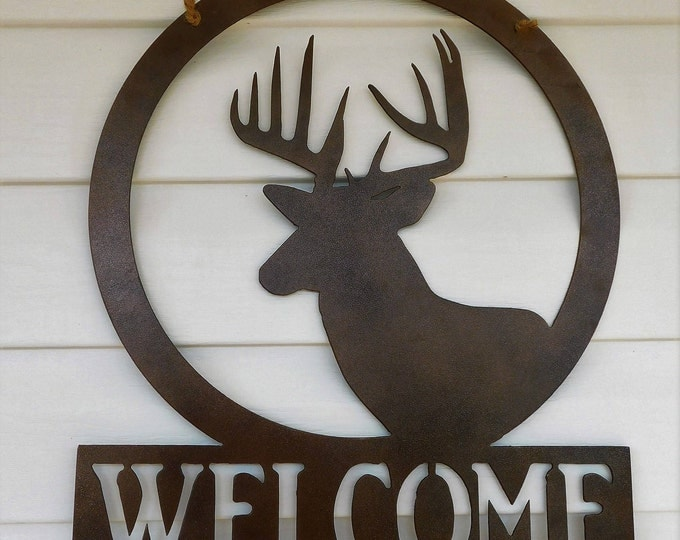 Welcome Sign For Front Door, Welcome Sign For Front Porch, Welcome Sign, Welcome Signs Outdoor, Deer Welcome Sign, Deer Door Hanger, Hunting