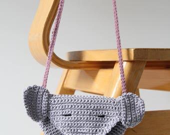 Elephants bag-kids bag-beige-handmade