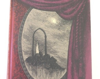 The Haunted Looking Glass: Ghost Stories Chosen by Edward Gorey, 1959, Vintage 1950s Illustrated Hardcover, Looking Glass Library 9