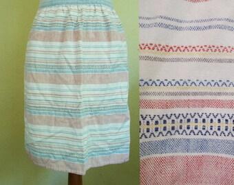 Vintage Apron, Half apron, Striped apron, Pastel apron, Kitchen apron, Shabby chic, Retro apron, Womens apron, gift for her