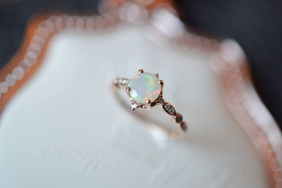 like this item - Opal Wedding Ring