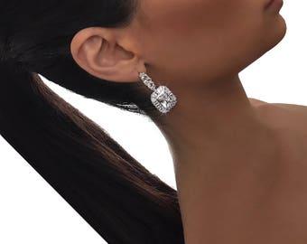 PENELOPE EARRING - drop earrings, evening earrings, silver earrings, statement earrings, wedding earrings, diamond earrings, shiny earrings
