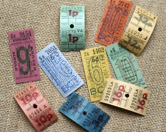 Vintage British Bus Tickets - S2