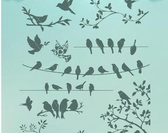Bird Silhouettes / Birds SVG / SVG /  Birds Dxf / Birds / Bird Collection / Bird Bundle / Birds Png / Collection of Birds