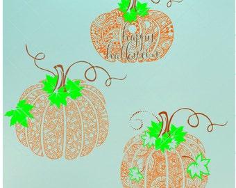 Pumpkin Mandala Svg | Mandala Svg | Pumpkin Svg | Halloween Svg | Digital Cut File | Mandala Decal | Instant Download | Halloween Zentangle