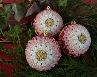 Crochet made with love mit liebe f r sie von for Weihnachtskugeln altrosa