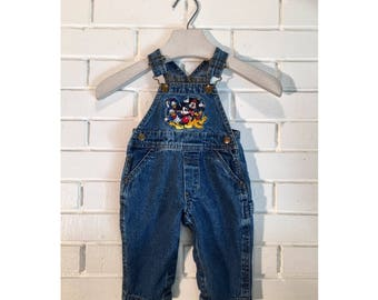 Vintage Sz 6M Mickey Mouse Toddler Overalls