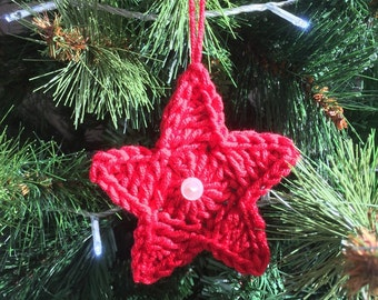 "Set of 8 Star ""Ruby"" for Christmas decoration"
