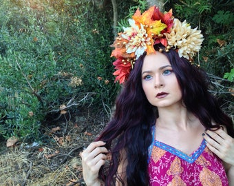 Autumn Fairy Queen Crown