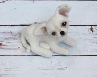 Felting dog for doll